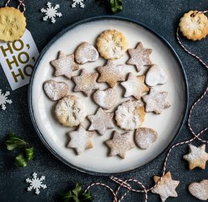 Baking cookies is a fun holiday activity for preschoolers